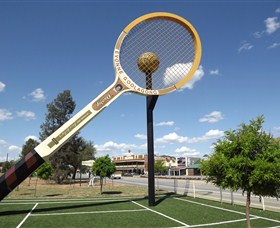 Barellans Big Tennis Racquet - Tourism Brisbane