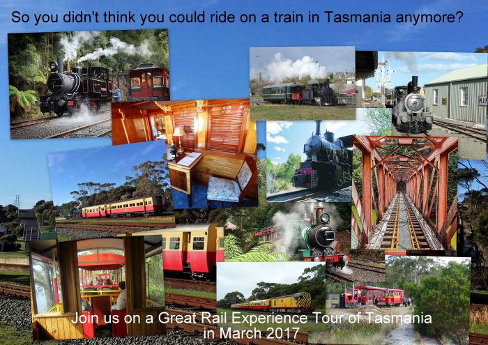Great Rail Experiences  Tasmania Tour 2017 - Tourism Brisbane