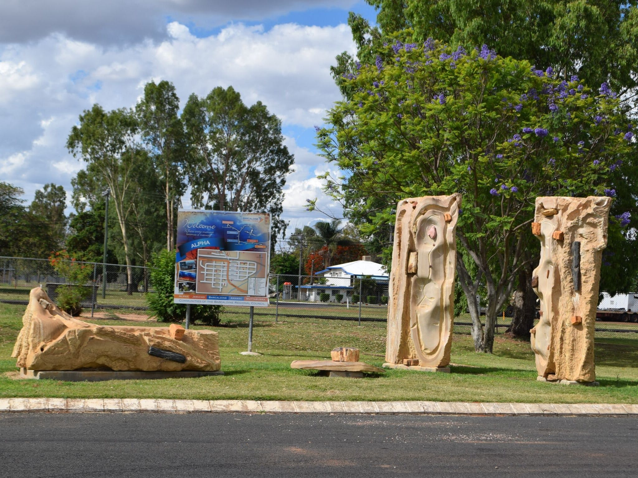 The Fossilised Forest Sculpture - Tourism Brisbane