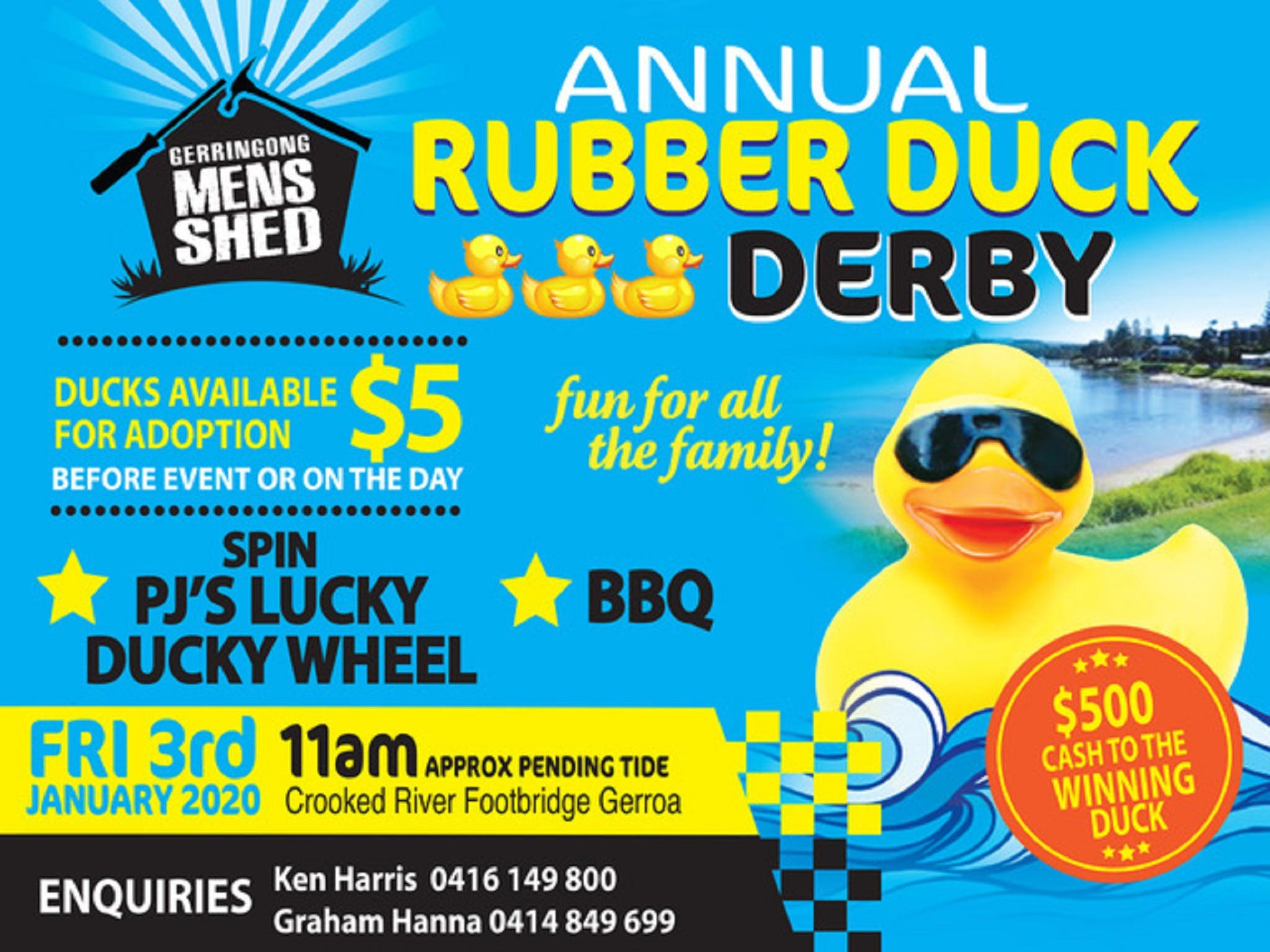 Gerringong Mens Shed Annual Duck Derby - Tourism Brisbane