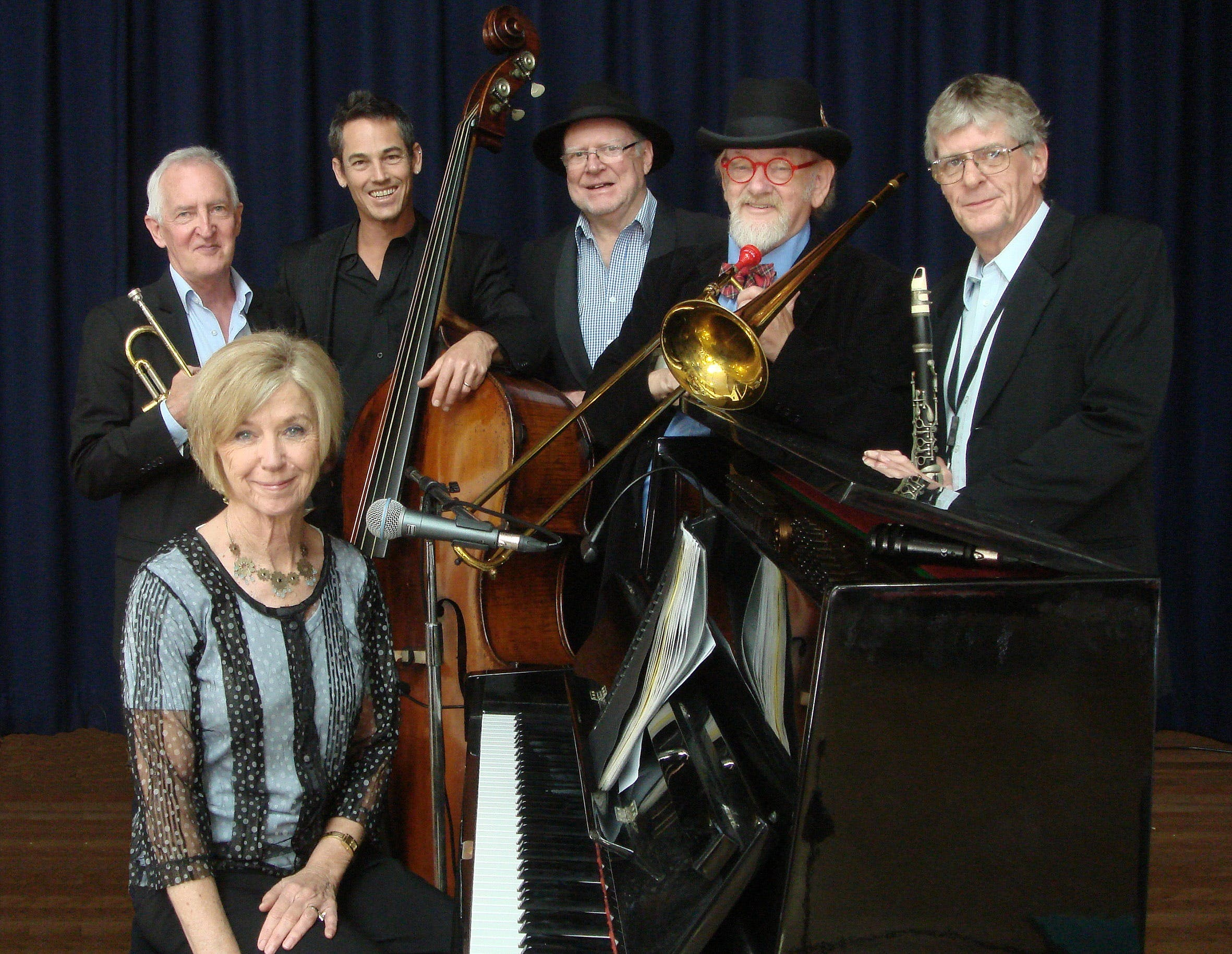 The Caxton Street Jazz Band in the Swigmore Hall at Robert Channon Wines - Tourism Brisbane
